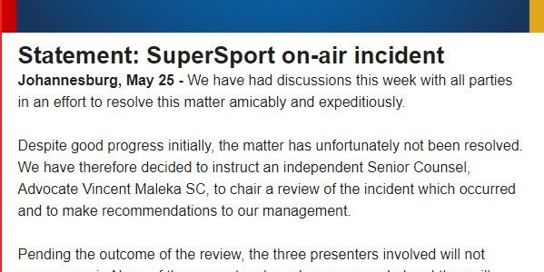 To Recap: SuperSport Continues to Get it Wrong